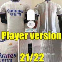 21 22 Player Version Real Madrid Madrid Soccer Jerseys 2021 2022 Home Hazard Modric Sergio Ramos Maillots de Camicia da calcio Benzema Marcelo Asensio Uniform
