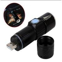 Lampes de poche Torches 3 Mode Tactique Flash Light Torch Mini Zoom Rechargeable puissant USB LED AC Lanterna pour outils de poche de voyage en plein air