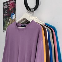 Privathinker 10 Solide Farbe Frauen Langarm T Shirts Koreanische Frauen Langarm T-Shirts Übergroße Frau Casual T-Shirt Tops 210310
