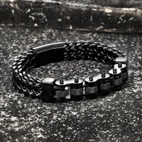 Bangle 2021 Trend Motorcycle Men's Bracelets Stainless Steel Golden Jewelry Wide Hand Chain Link Accessories Wristband Male Boy Bangles