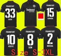 21 22 Eintracht Frankfurt Futbol Forması 2021 2022 Die Adler Sow Silva Kostic Jovic Futbol Üniforma Çocuk Seti Hasebe Kamada Hintegger Maillot de Foot Gömlek