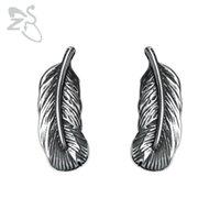 Stud ZS Men's Punk Earrings Hip Hop 316L Stainless Steel Jewelry Rock Roll Ear Piercing Gothic Earing Accessories 2021