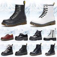 Дизайнерские сапоги Dr Martin 1460 Мужчины Женщины Модные зимние ботильоны Martins Черный Белый Винный Красный Зеленый Туфли на платформе Кожаные ботинки на шнуровке