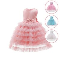 Girls Dresses 1st Birthday Dress For Baby Girl Princess Children Clothes Kids Clothing Flower Wedding Party Formal Lace Tutu Tiered Skirts B6145