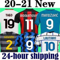 Ibrahimovic Theo Mandzukic 20 21 CA Milan Soccer Jersey 2020 2021 Futebol Inter Jersey Camiseta Crianças Conjuntos Lukaku Lautaro Eriksen Tonali Brahim