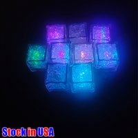Regalo Romantico Led Ice Lights Holiday Lighting Cubes Fast Lento Flash Flash 7 Colore Auto Changing Crystal Cube Party Wedding Water Water