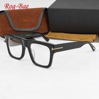 Moda occhiali da sole Cornici 2021 Brand Glass Brame Uomini TF5634-B Acetato Quadrato EyeGlasses Myopia Computer Prescrizione Vintage Spectacle Wom