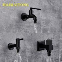 Banyo Lavabo Bataryaları Haimaitong Musluk Siyah Pirinç Duvara Monte Küvet Tuvalet Paspas Havuz