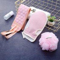 Bath Gloves Ball Scrubbing Suit Exfoliating Gloves Hammam Shower Scrubbers Belt Body Back Scrub Massage Sponge Moisturizing SPA Set OWD10075