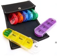 7-дневная медицина Пилюльки Mini Round Portable Travel Storage Vitamin Box Сортировка таблеток Держатель Организатор Контейнер Case HWF9663