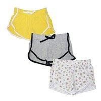 3 stück casual girls massiv farbe shorts kind stilvolle kordelzug yoga hosen training hosen sport shorts lounge kleidung