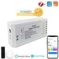 스마트 홈 컨트롤 ZigBee Dimmer 모듈 Swtich RGB CCT led 스트립 라이프 Tuya App Allexa exo echo goolge ifttt
