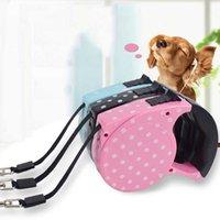Nuevo diseño de lunares Portátil Portátil Productos para mascotas ABS Duradero 5 metros Automático retráctil para perros Accesorios de correa de correa