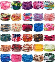 1Pc Bandanas Scarves Outdoor Cycling Masks Scarf Magic turban Sunscreen Hair band Riding Cap Multi Styles FY7041