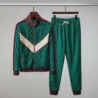 Erkekler Woemn Tracksuit Ceketler Üst Versiyonu Bahar Sonbahar Unisex Eşofman Mektupları Yan Nakış Tops + Pantolon Rahat Ceket Spor Takım Asya Boyutu M-3XL