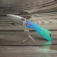 EVIL EYES customized folding knife MSC SNG DDC crystalline titanium handle high hardness m390 blade perfect collection pocket EDC tactical camping hunting tools