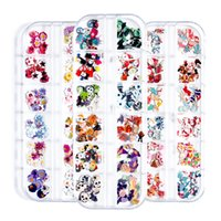 Christmas Halloween Decoration Snowman Flowers Nail Art Flakes Slice Acrylic Polymer Clay Manicure Accessories For 3D Nails Design Sequins LHQ047