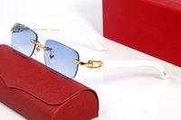 Homem branco búfalo chifre óculos mulheres e mens esportes sunglassess atitude criminal óculos moda moda retro óculos lunettes
