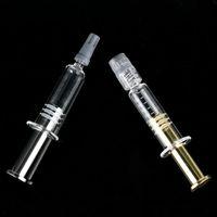 1ml Luer Lock Luer testa Metallo Placking Syringe Syringe per M6T DABWOOD Vapes Estratto Oil Cartridge E Liquido Strumento di riempimento per profumo cosmetico
