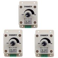 3 pezzi di DC12-24V 8 AMP 0% -100% di regolazione PWM Dimming Controller, adatto per luci a LED, luci a nastro, luci a nastro