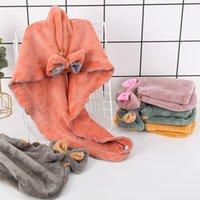 Chicas coral cabello tapa suave agua absorbente casquillo casero adulto secado rápido baño toalla T500484