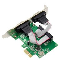 Nuova porta DUAL DB9 RS232 / Serial Port PCI Express PCIE Adapter Card - Chipset WCH382L - Staffa a basso profilo inclusa
