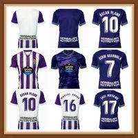 2021 2022 Real Valladolid Javi Moyano Mens Futebol Jerseys Sergi Guardiola Enes Unal Home Away Camisa de Futebol de Alta Qualidade