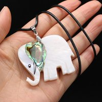Кулон ожерелья натуральные раковины животные женские мужчины мать жемчужины раковины слона шарм подвески ожерелье DIY винтажные украшения