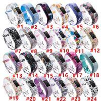24 Colors Ersatz-Handgelenkbandband für Garmin VIVOFIT 3 JR JR2 Uhrenmuster Siliziumverschluss Uhren