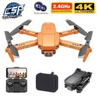 CEVENNESFE drone 4K HD double caméra Positionnement visuel 1080p WiFi FPV Hauteur de préservation RC quadcopter drones jouets 210915