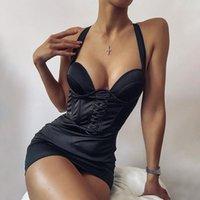 Черное сексуальное атласное платье женщины Bodycon Backblob Backless Spaghetti ремешок Ruched платье молния тонкие мини платья клубная вечеринка одежда