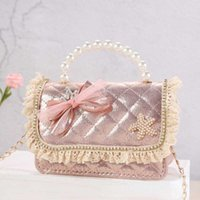 Purse Korean Style Kids Purses And Handbags Mini Crossbody Bag Cute Girls Bow Coin Pouch Baby Party Clutch Tote