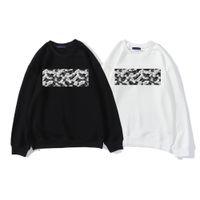 2021 망 후드 고품질 수 놓은 번호 패턴 흑백 디자이너 까마귀 커플 스웨터 아시아 크기