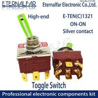 Akıllı Ev Kontrolü 12mm E-Ten1321 High-end Kalite Gümüş İletişim DPDT 16A 250 V AC On-On-on 6Pin Sap Rester Rocker Toggle Slayt Anahtarı Suyu