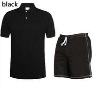 Uomini Crocodile Polo Tracksuit Summer Camicie + Breve Moda Set da uomo Abbigliamento casual Tops T-shirt Magliette Abbigliamento sportivo