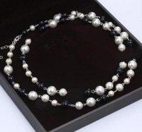Collana di gioielli di designer di lusso Collana naturale perle per perle per donna Catena maglione lunga elegante gioielli di moda elegante accessori