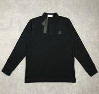 Yeni erkek Polos Uzun Kollu T Shirt Bahar ve Sonbahar Yüksek Kaliteli Erkek Kadın Tişörtleri Uzun Kollu Streetwear Casual Adam Giyim Tees