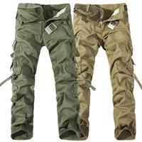 İşçi Pantolon Noel Yeni Erkek Casual Ordu Kargo Camo Savaş Çalışma Pantolon Pantolon 6 Renkler Boyutu 28-38
