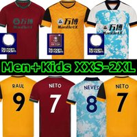 2021 Neto 7 Terceiro Wolverhampton Futebol Jerseys Lobos Fàbio Silva 20 21 Vitinha Raul Neves Kits de Futebol Kits Wanderers Adama Camisa Men Kids Set
