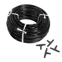 Watering Equipments 20m 4 7mm Hose Garden Water Micro-Irrigation Pipe With 20 Pcs Tee Connectors Gardening Lawn Agriculture Sprinking Drip T