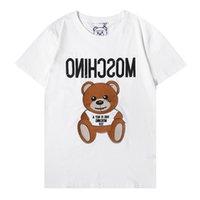 21 Tasarımcı Lüks Mens T Gömlek Klasik Mektup Baskı Tshirt Yüksek Kaliteli Yaz Kadın Şerit Rahat Moda Pamuk Tee Top