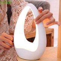 Touch Speaker Bluetooth LED Table Lâmpada Dimming Night Light Novidade Presentes Home Decor AUX 220V Compatível Inteligente 360 Sonround