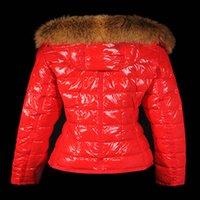 2021 Frauen Wolf Pelz Nylon Daunenjacke Designer Dame Warme mit Kapuze Snap Button Reißverschluss Outwear Mode Mädchen Stehkragen Gepolsterte Mantel