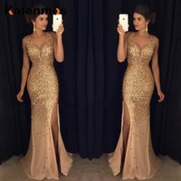 Casual Dresses Women Sexy Long Dress Sleeveless Solid Sequin V Neck High Street Top Dance Wedding Prom Party Night Bridesmaid Fashion Vestid