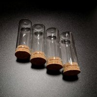 Forniture da laboratorio 10/20 / 50pcs 15ml 25ml Provette a fondo piatto da 25 ml con tappo di tappo di sughero Glass Wishing Bottiglia di stoccaggio per test di laboratorio o fai da te