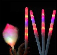 2021 LED 면화 사탕 GLO 콘 화려한 LED 가벼운 스틱 플래시 광선 코튼 캔디 스틱 보컬 콘서트 나이트 파티
