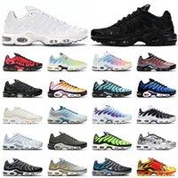 nike air max airmax plus tn 2021 Hombres Mujeres Zapatos para correr Cuero Triple Negro TODO Blanco Azul Hexagonal Blanqueado Aqua Worldwide Zapatillas de deporte al aire libre