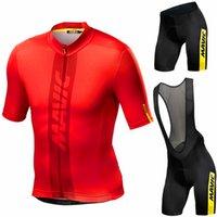 2021 MAVIC Bisiklet Seti Adam Bisiklet Jersey Kısa Kollu Bisiklet Bisiklet Giyim Kiti MTB Bisiklet Giyim Triatlon Maillot Ciclismo