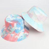 와이드 브림 모자 패키지 가역 인쇄 어부 양동이 양동이 태양 모자 여성을위한 여행 해변 야외 모자 유니섹스