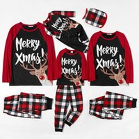 Matching Pajamas Set Christmas Family Cartoon Adult Kid Family Matching Clothes + Striped Pants Xmas Sleepwear Pjs Sets